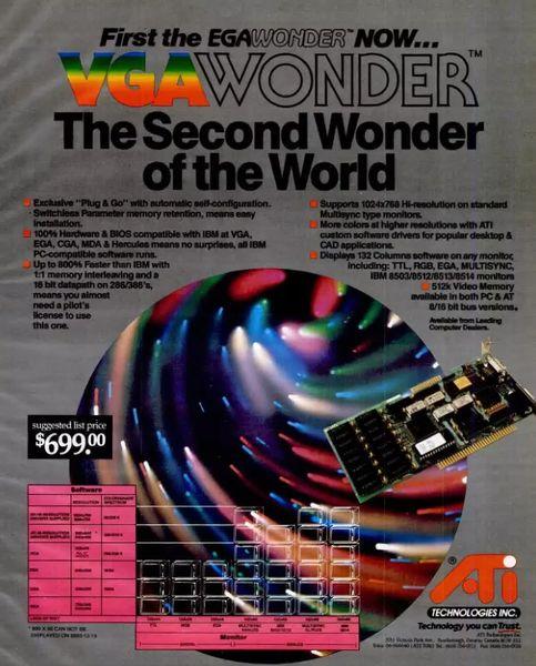 کارت گرافیک ATI VGA Wonder